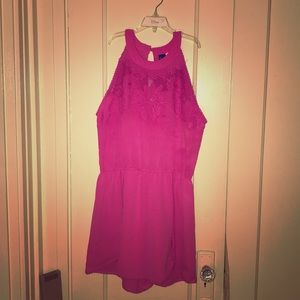 NWT romper with lace detail at neck